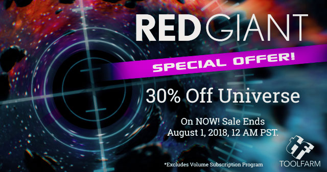 Red Giant Universe Sale