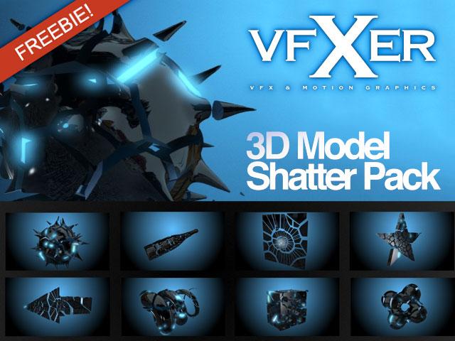 Freebie: Model Shatter Pack for Video Copilot Element 3D or MAXON CINEMA 4D