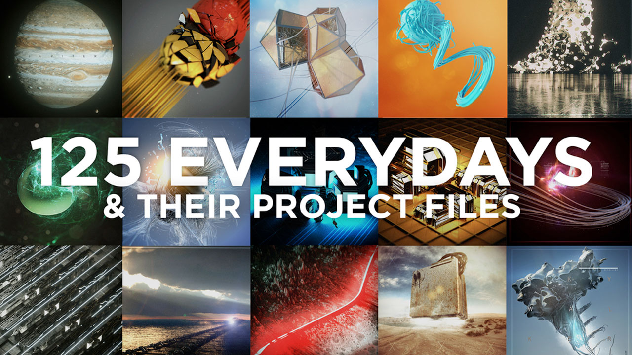 Freebie: CINEMA 4D 125 Everydays and Project Files