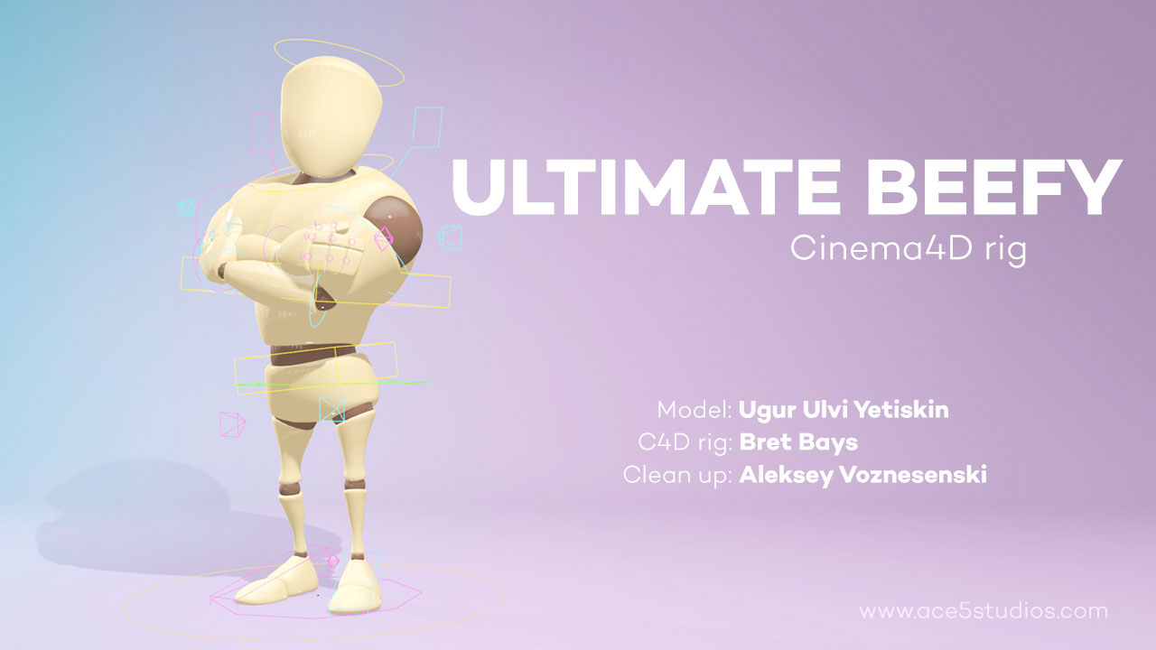 Freebie: Fully Rigged Cinema 4D 3D Character