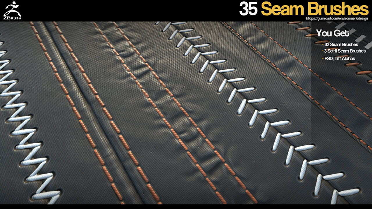 ZBrush: 35 Seam Brushes