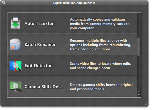 Digital Rebellion Pro Media Tools Batch Renamer