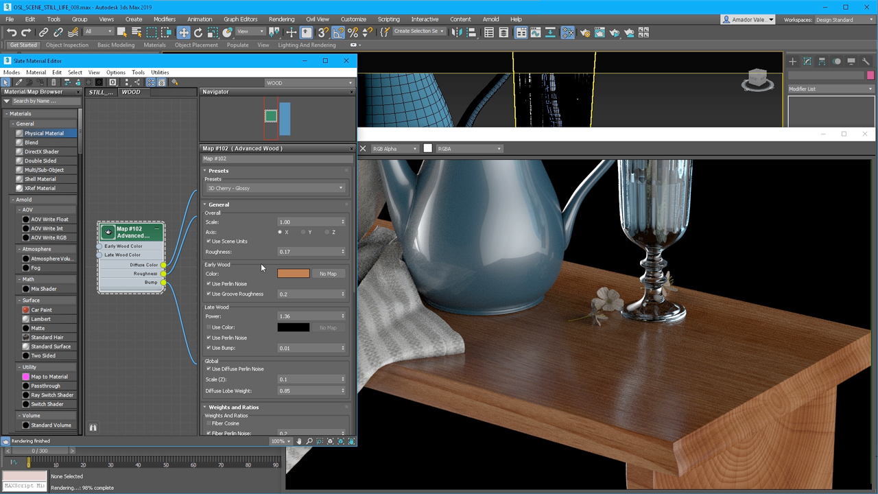 autodesk 3ds Max content creation wood
