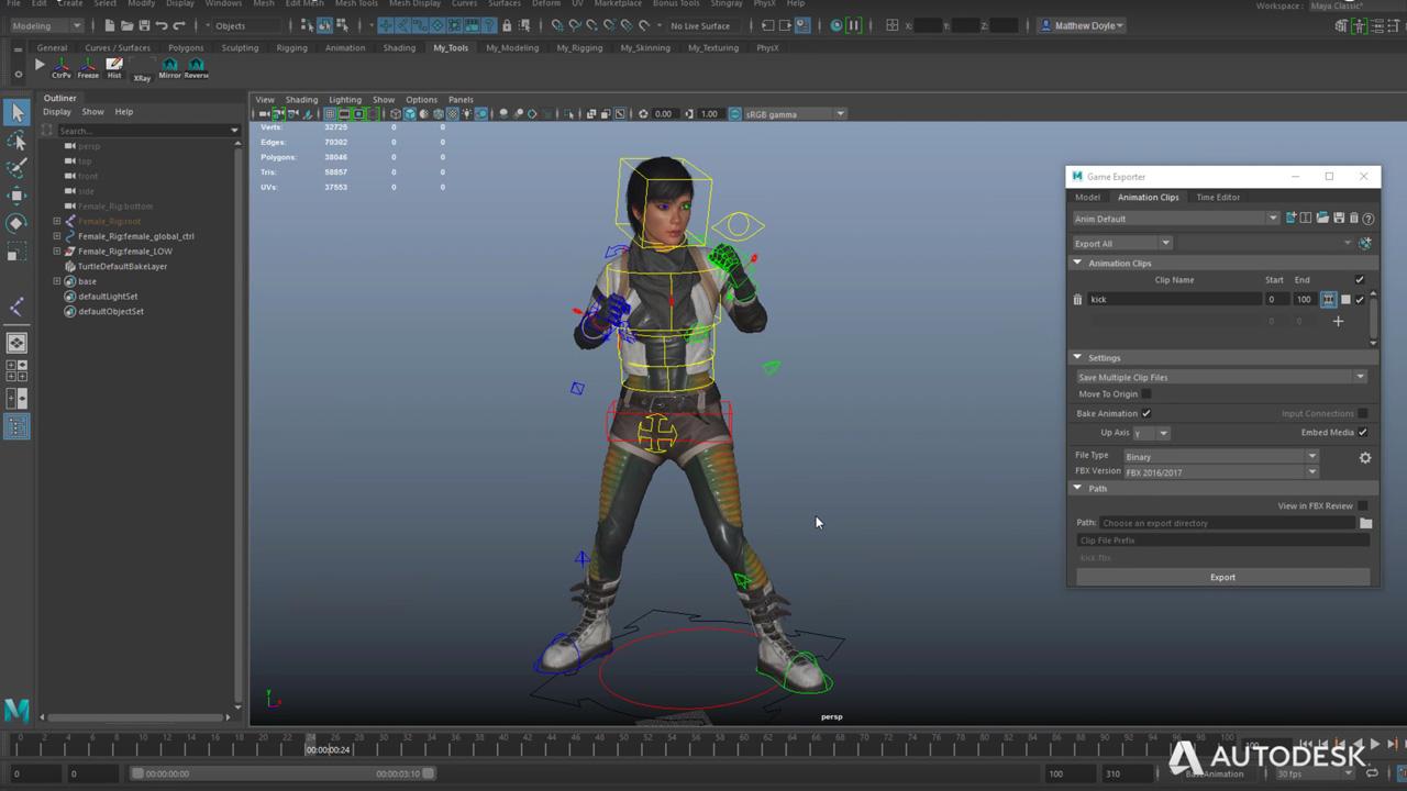 Autodesk Maya LT 2018 Game Engine Workflows