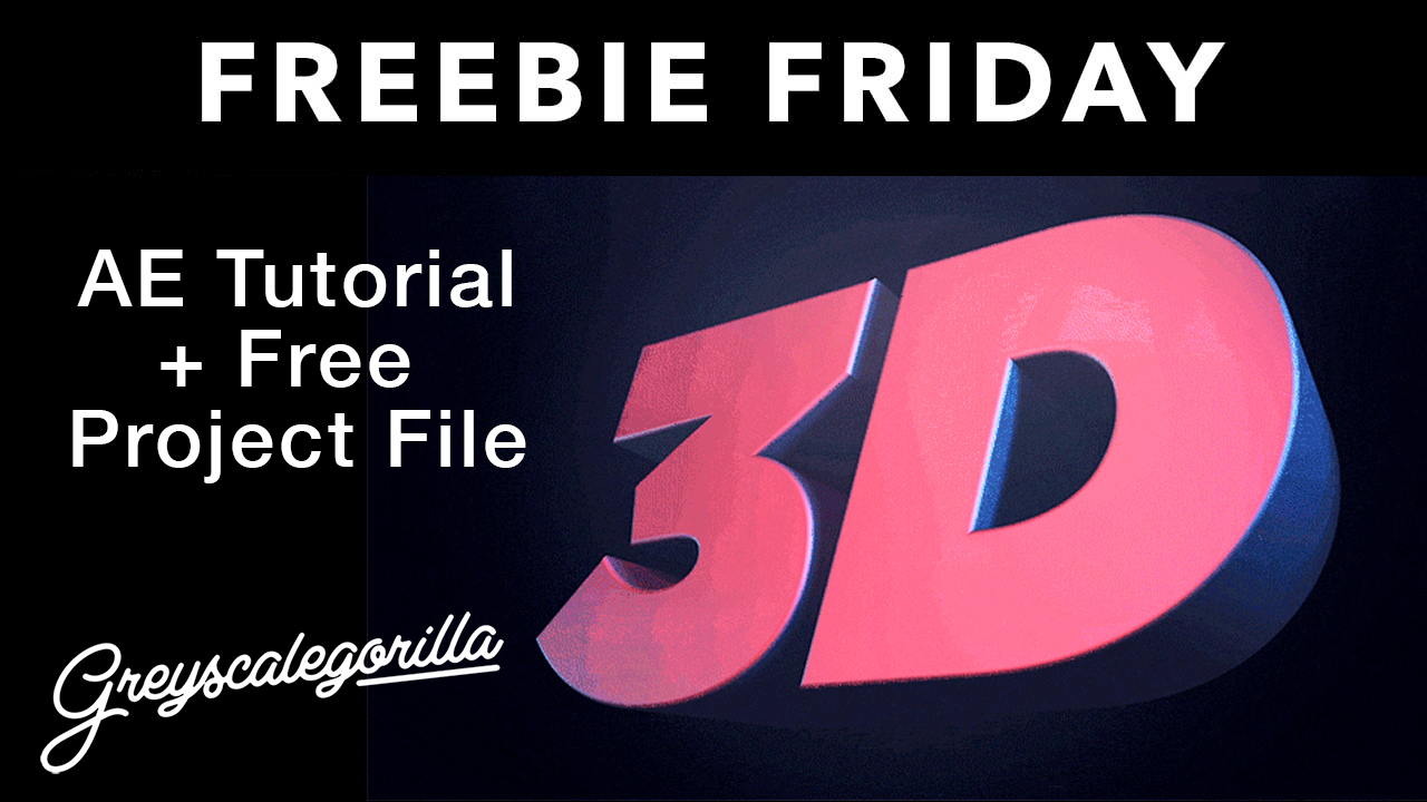 Freebie: AE Tutorial: Create 3D Text in After Effects Without Any