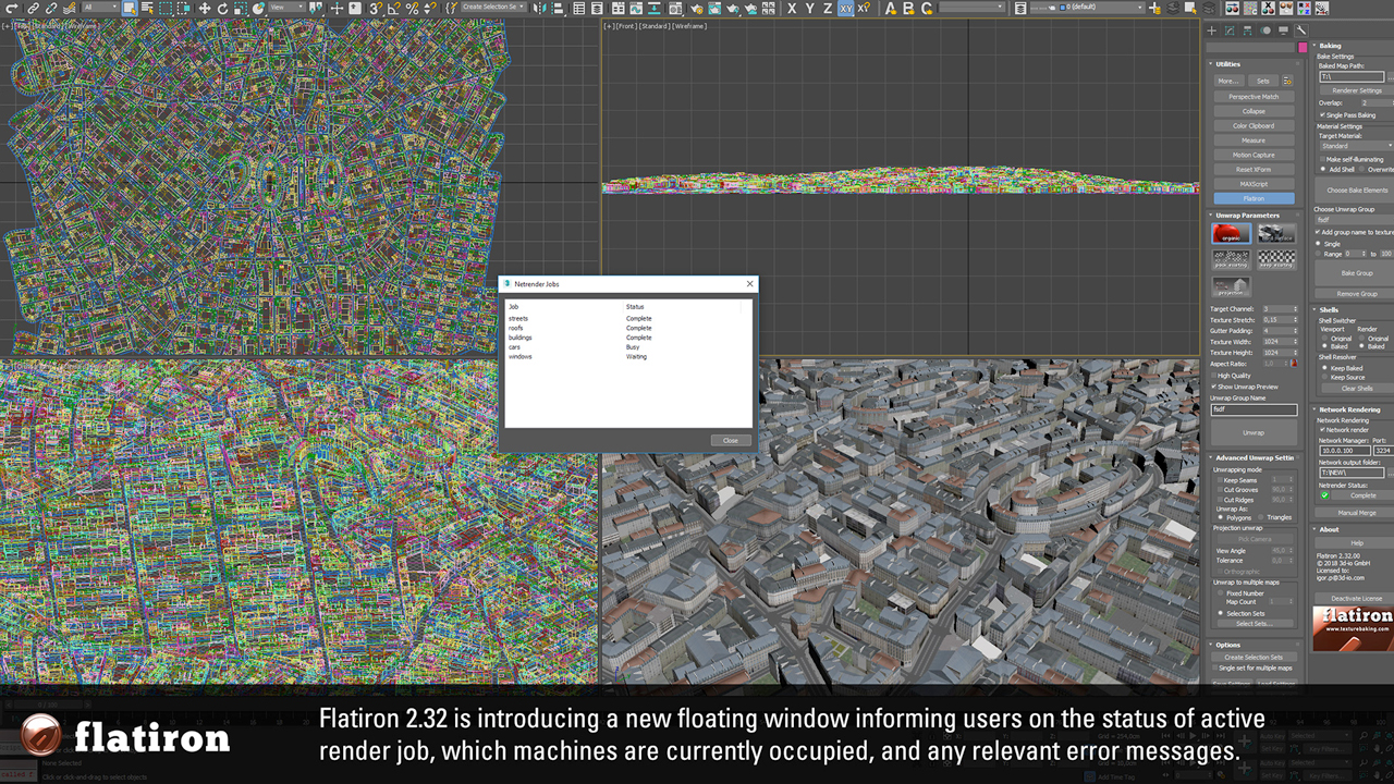 Update: 3D-io Flatiron v2.32 – Network Rendering Update