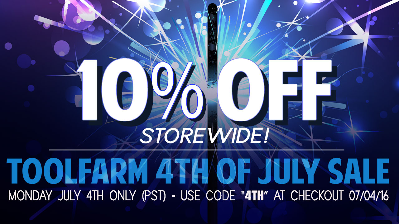 Toolfarm Flash Sale: Save 10% Storewide – Monday July 4th Only!
