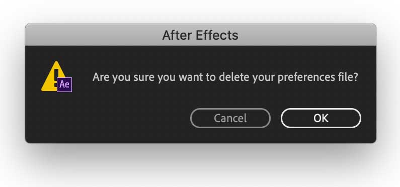 Delete After Effects Preferences