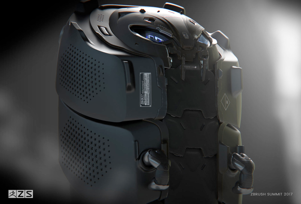 live zbrush sculpt off hard surface 3rd place