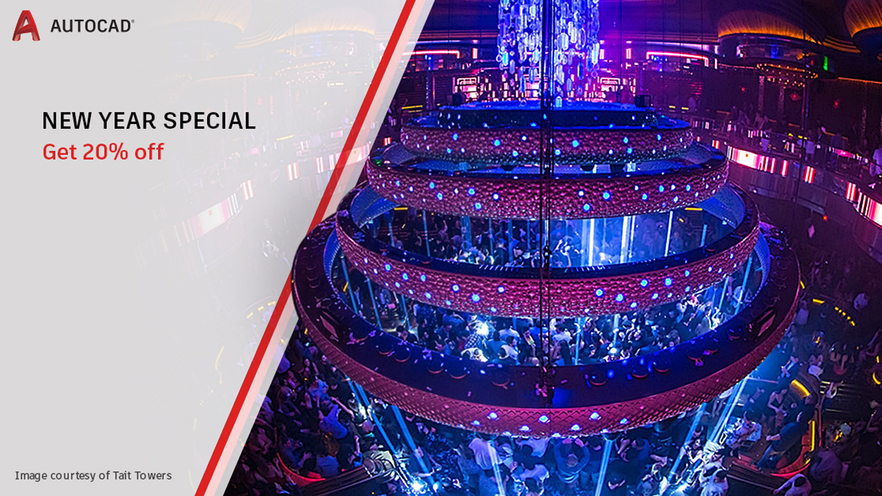Sale: Autodesk AutoCAD New Year Special - 20% Off - Limited Time Offer