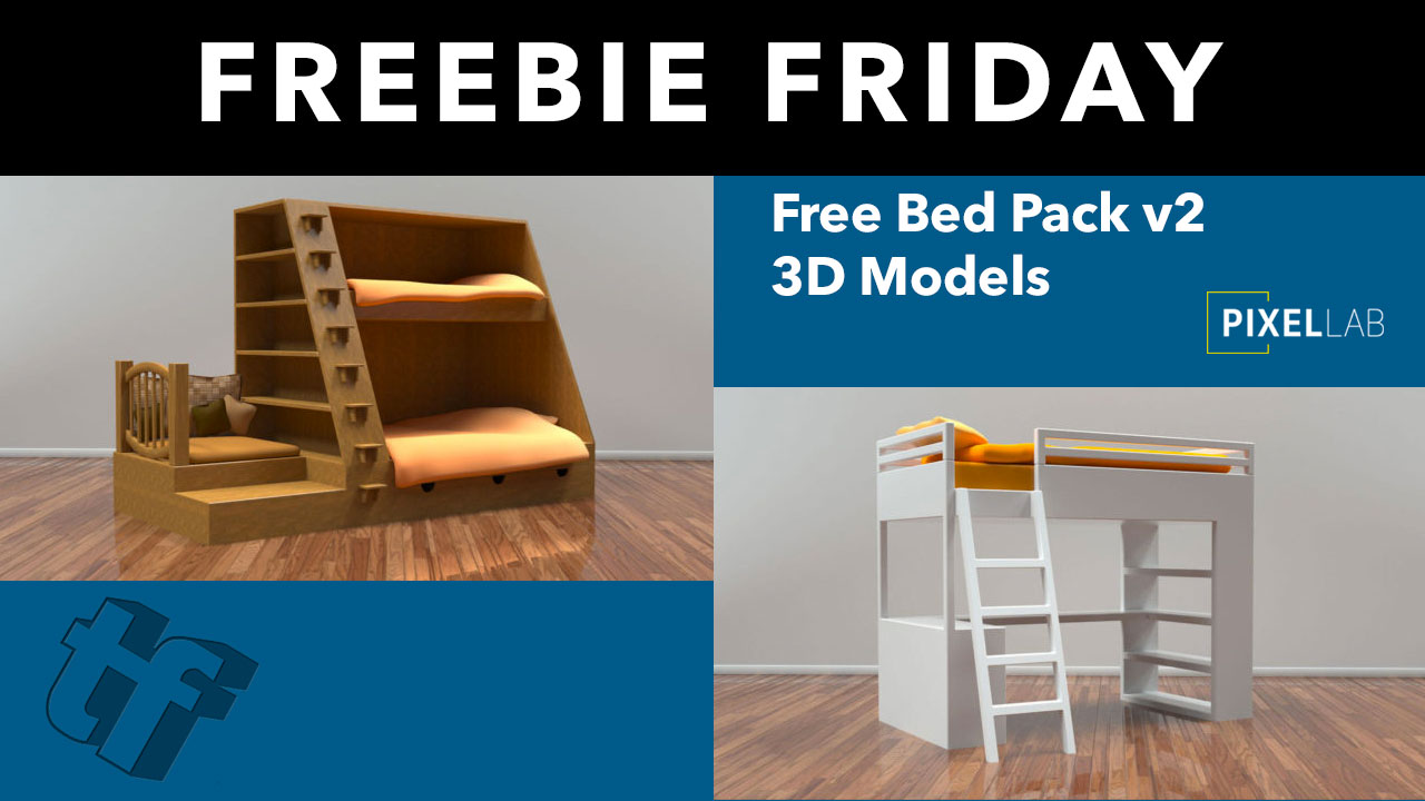 Freebie Friday: Bed Pack v2 for Cinema 4D