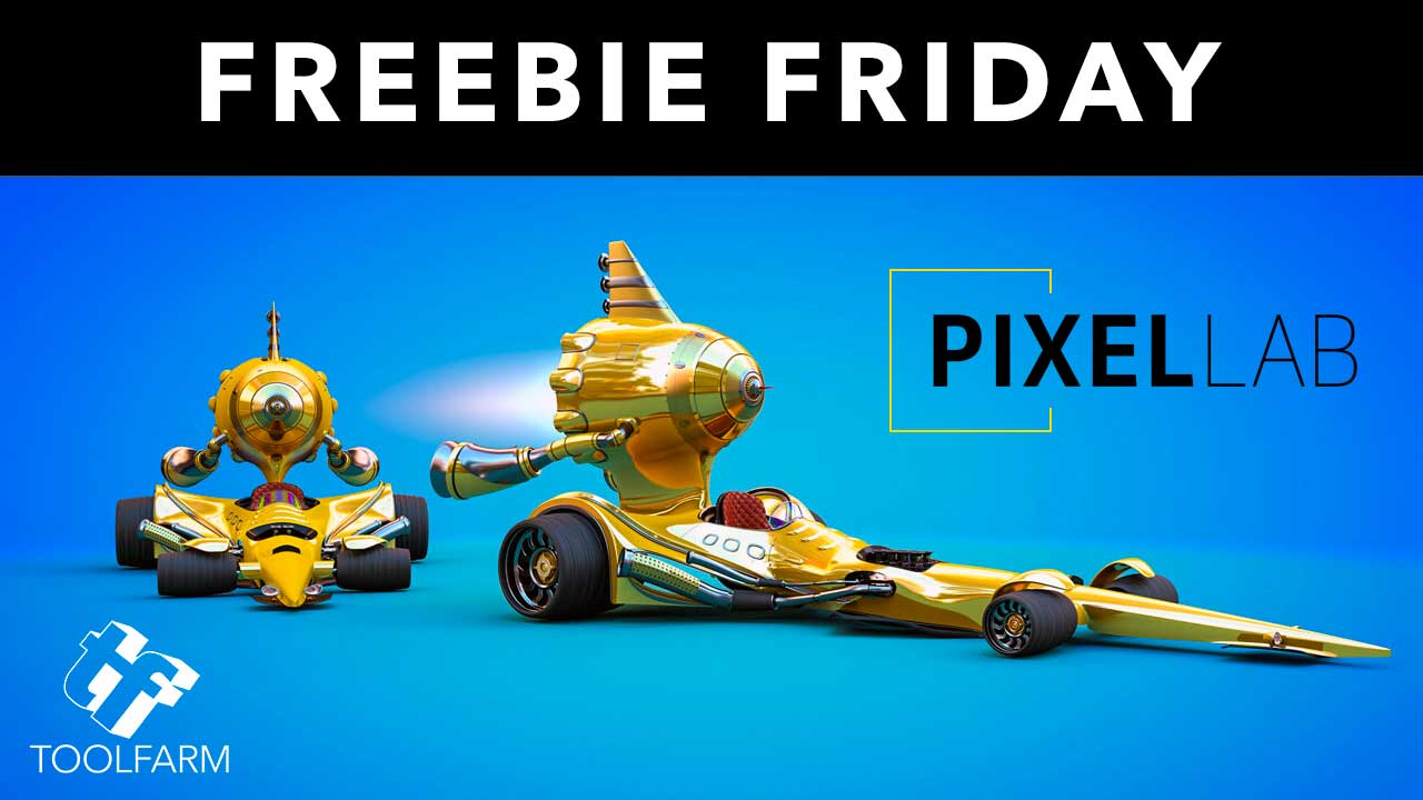 Freebie Friday: Cartoon Race Car from The Pixel Lab