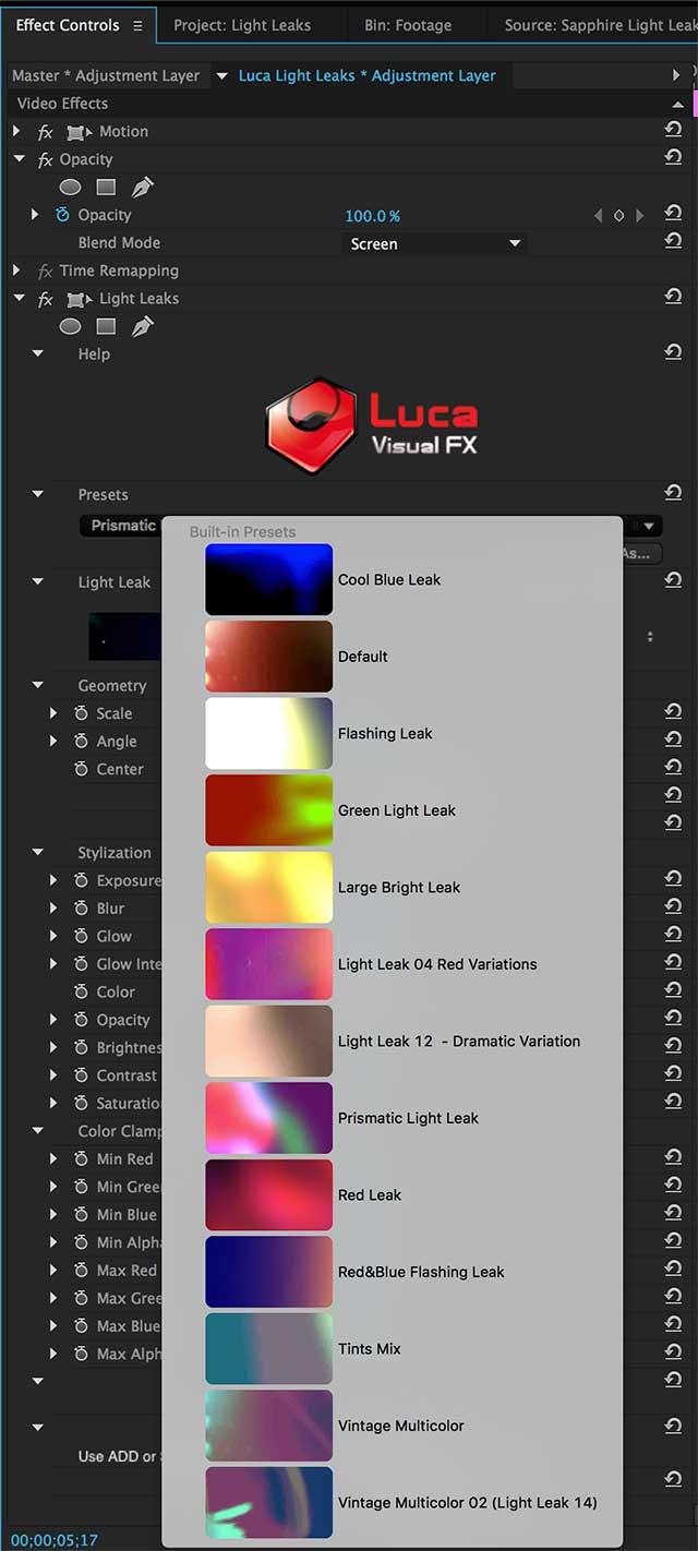 Overlay light effects over any media