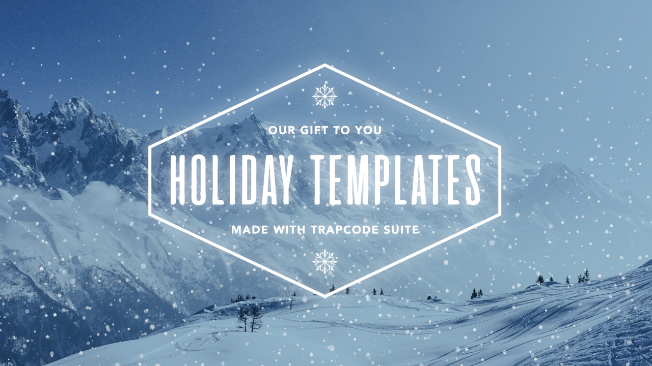 Free: Holiday Trapcode Suite Templates from Red Giant