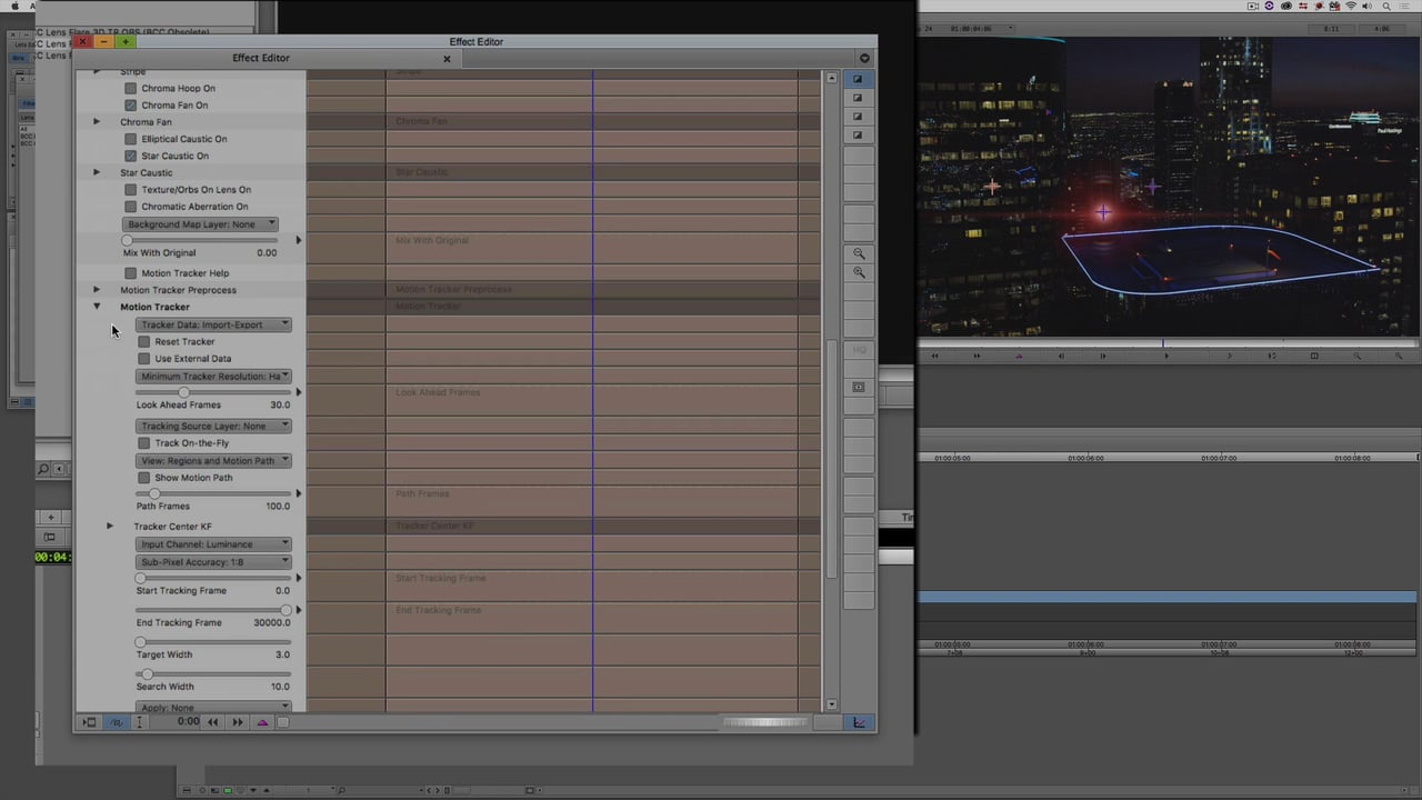 Advanced Lens Flare 3D Tracking with Mocha in Avid Media Composer