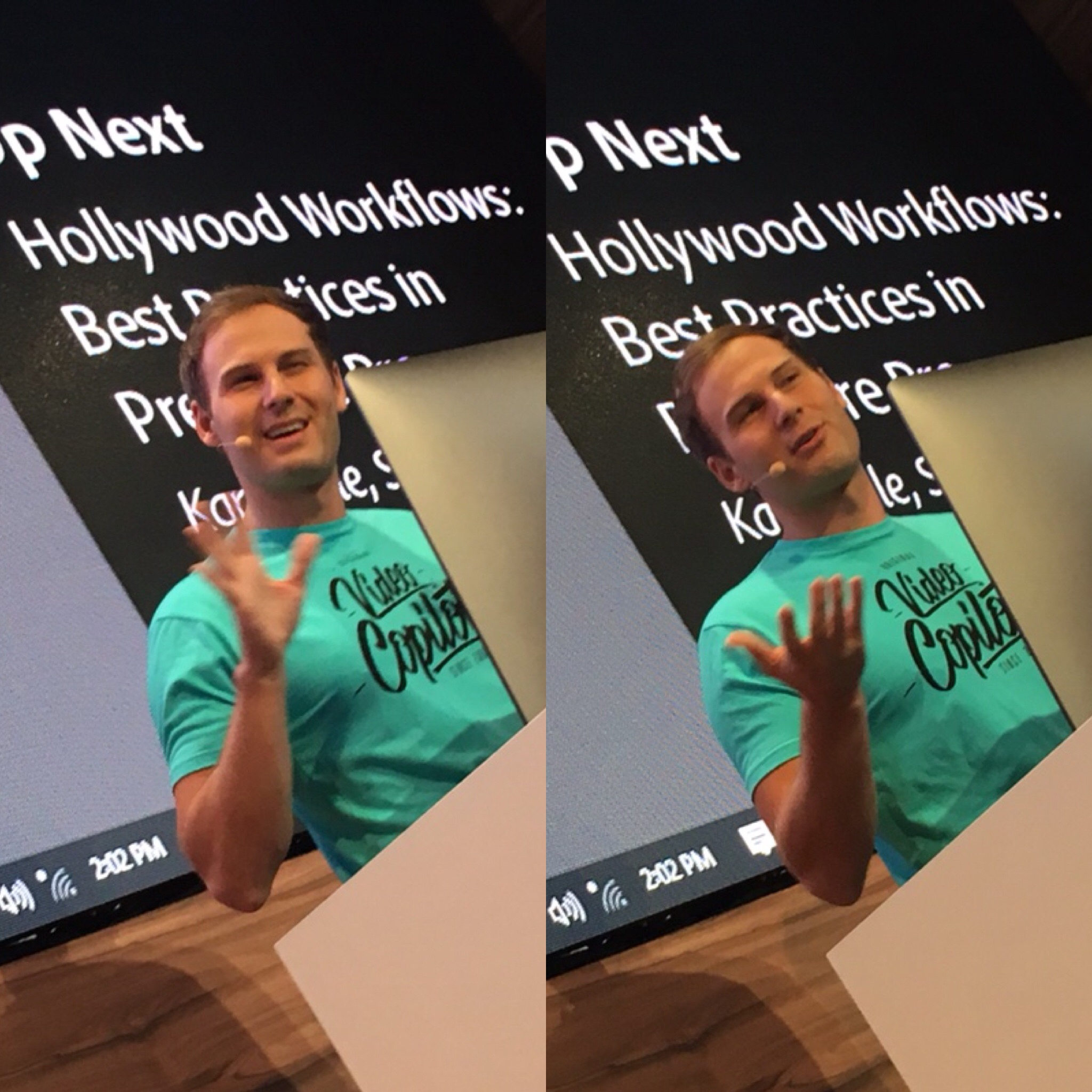 NAB 2018   Andrew Kramer at the Adobe Booth