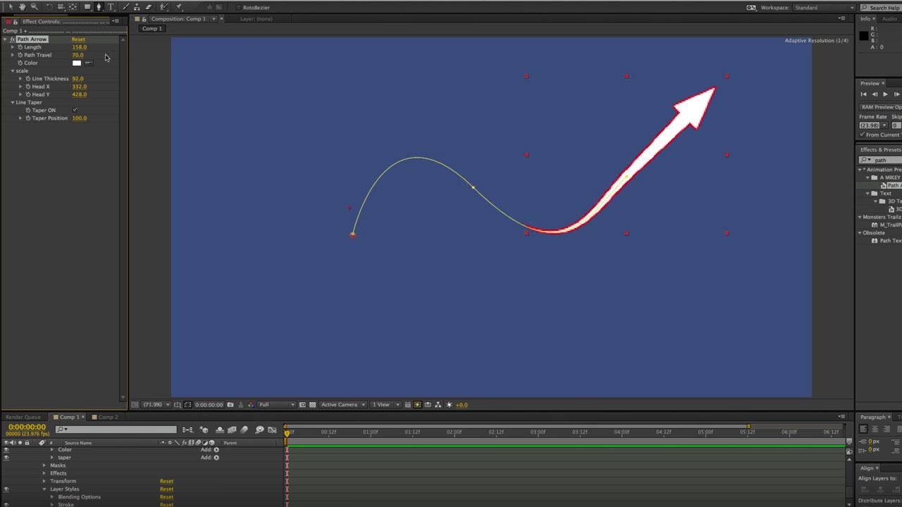 Freebie: After Effects: Free Path Arrow Preset - Toolfarm