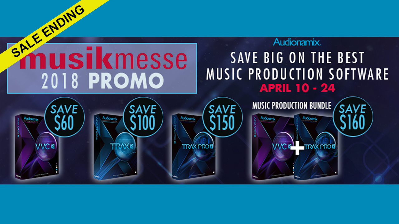 Sale Ending: Audionamix Mussikmesse Sale - Save up to $160 - One Day Left