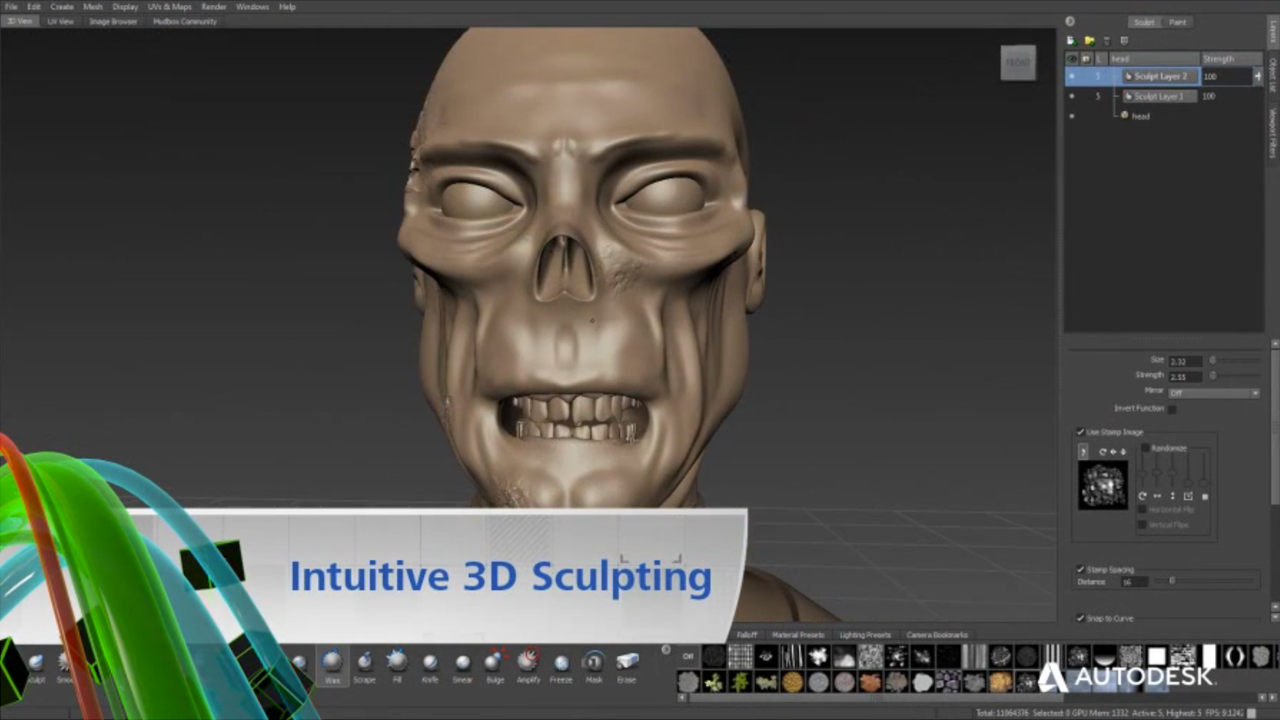 Autodesk Mudbox Digital Painting and Sculpting Software - Now Available at Toolfarm