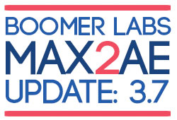 Update: Boomer Labs MAX2AE Verson 3.7