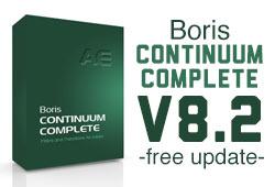 News: Boris Continuum Complete AE Version 8.2 Free Updater