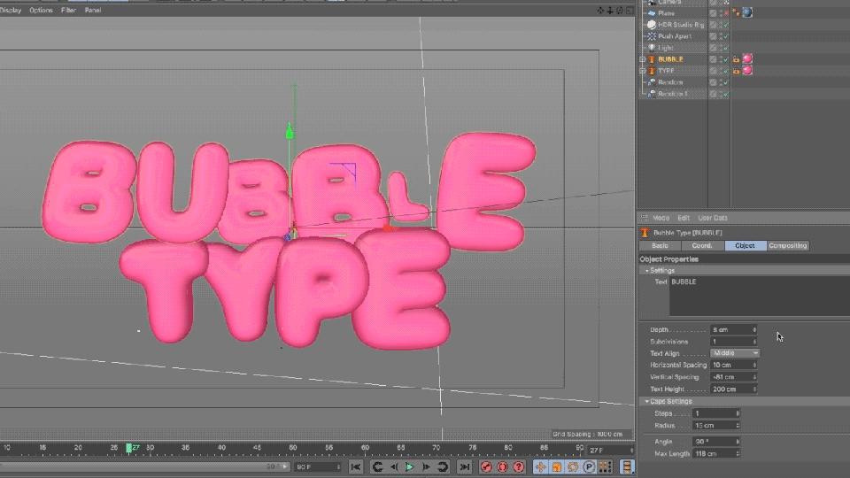 Freebie: 3D Bubble Type Rig for Cinema 4D from eyedesyn - Toolfarm