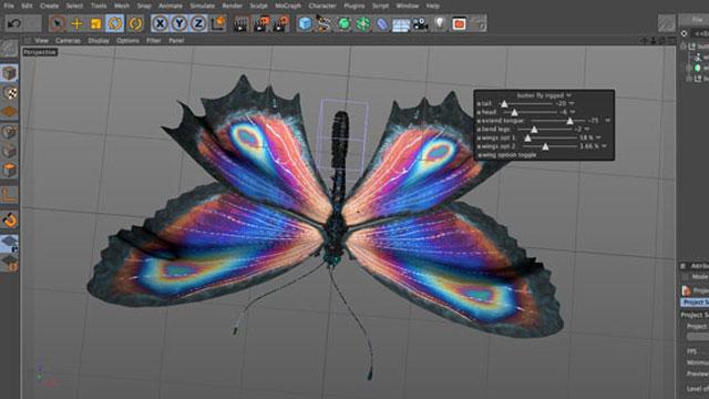 Freebie: Cinema 4D Butterfly xpresso rig - Toolfarm