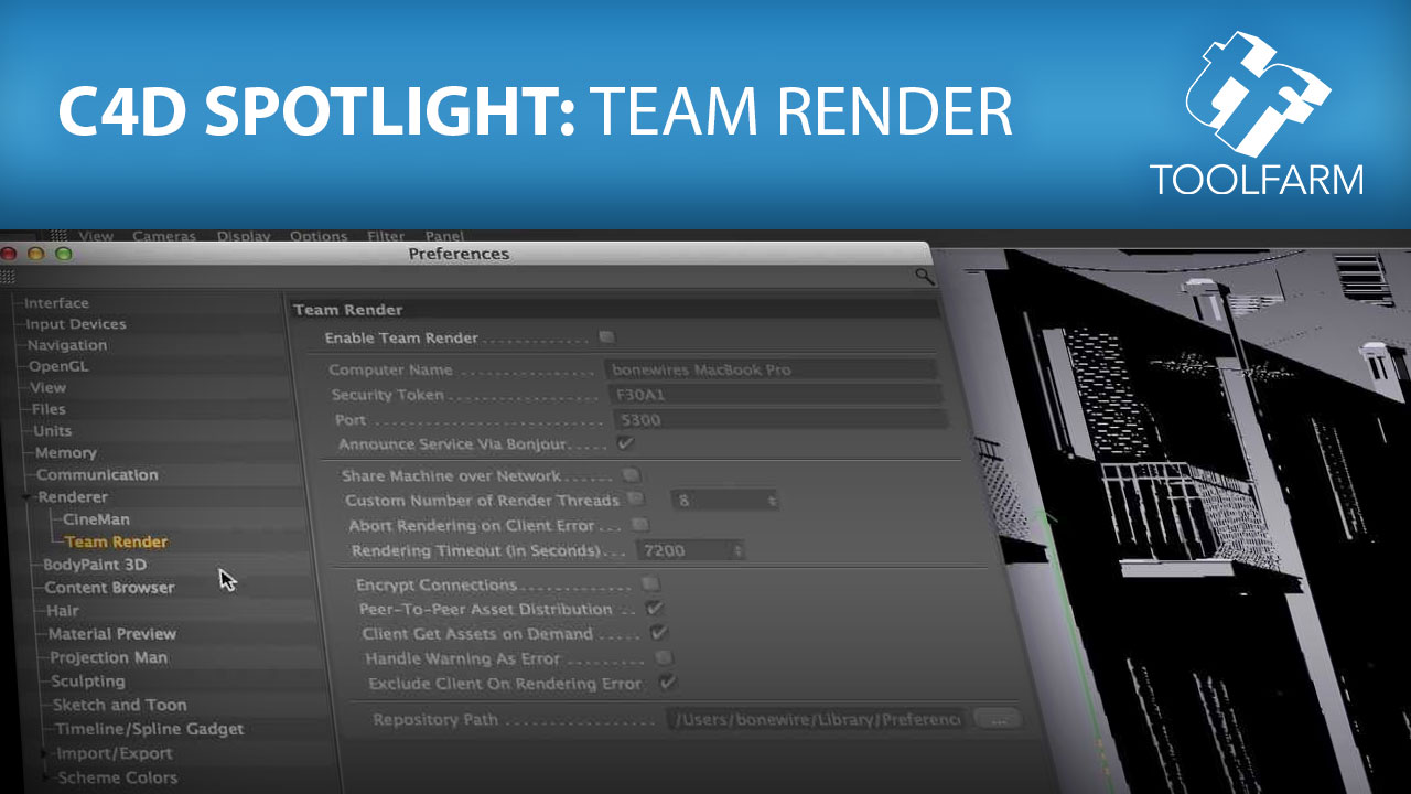 Setting Up A Render Farm in Cinema 4D with Team Render