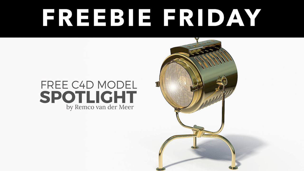 Freebie: Cinema 4D Model Spotlight from The Pixel Lab