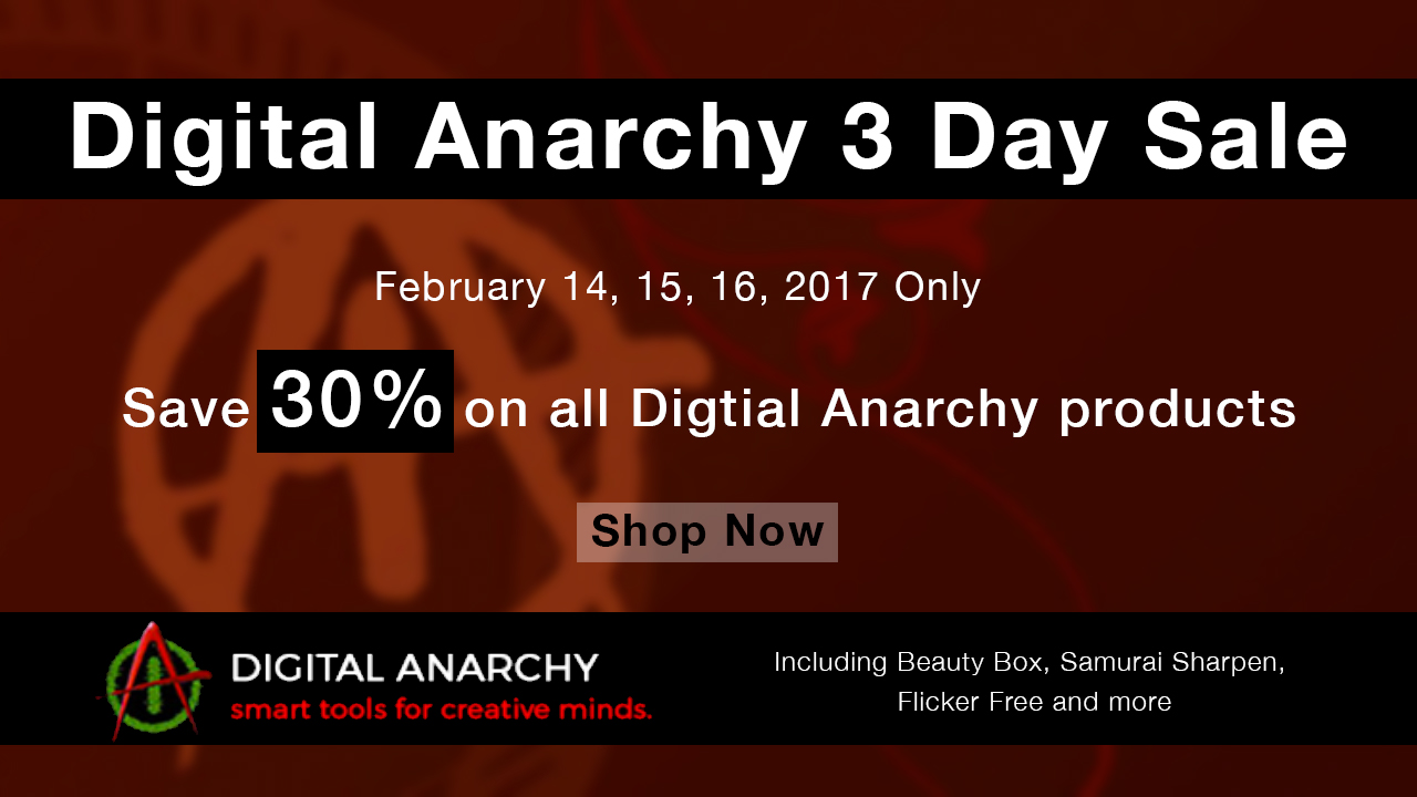 Digital Anarchy Sale