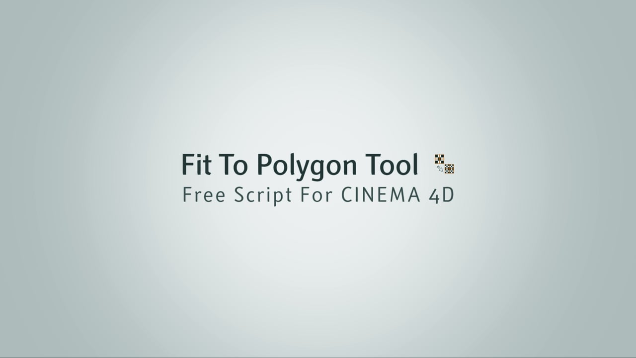 Freebie Friday:  Fit To Polygon Tool Script For CINEMA 4D