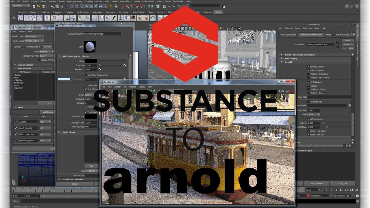 Freebie: Substance Painter to Arnold 5 for Maya 0 1 2 - Toolfarm