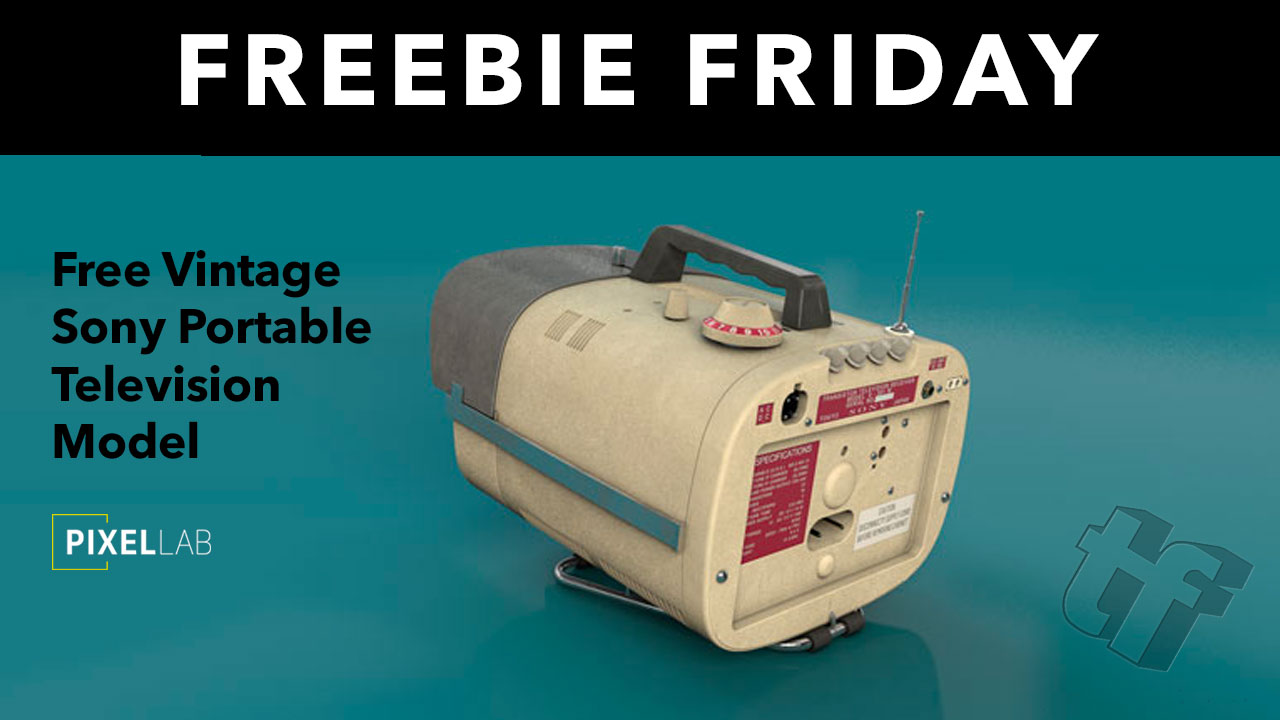 Freebie Friday: Free Vintage Sony Portable TV 3D Model from The Pixel Lab