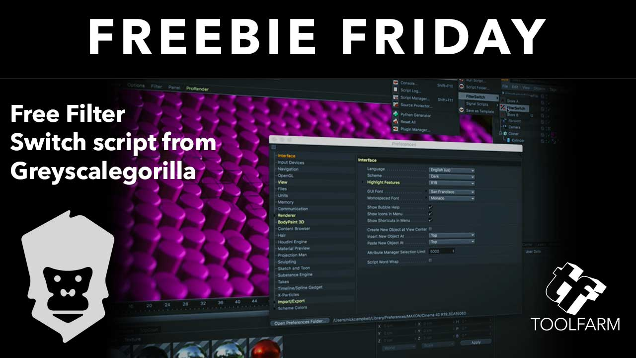 Freebie/Tutorial: Filter Switch Script from Greyscalegorilla - Toolfarm