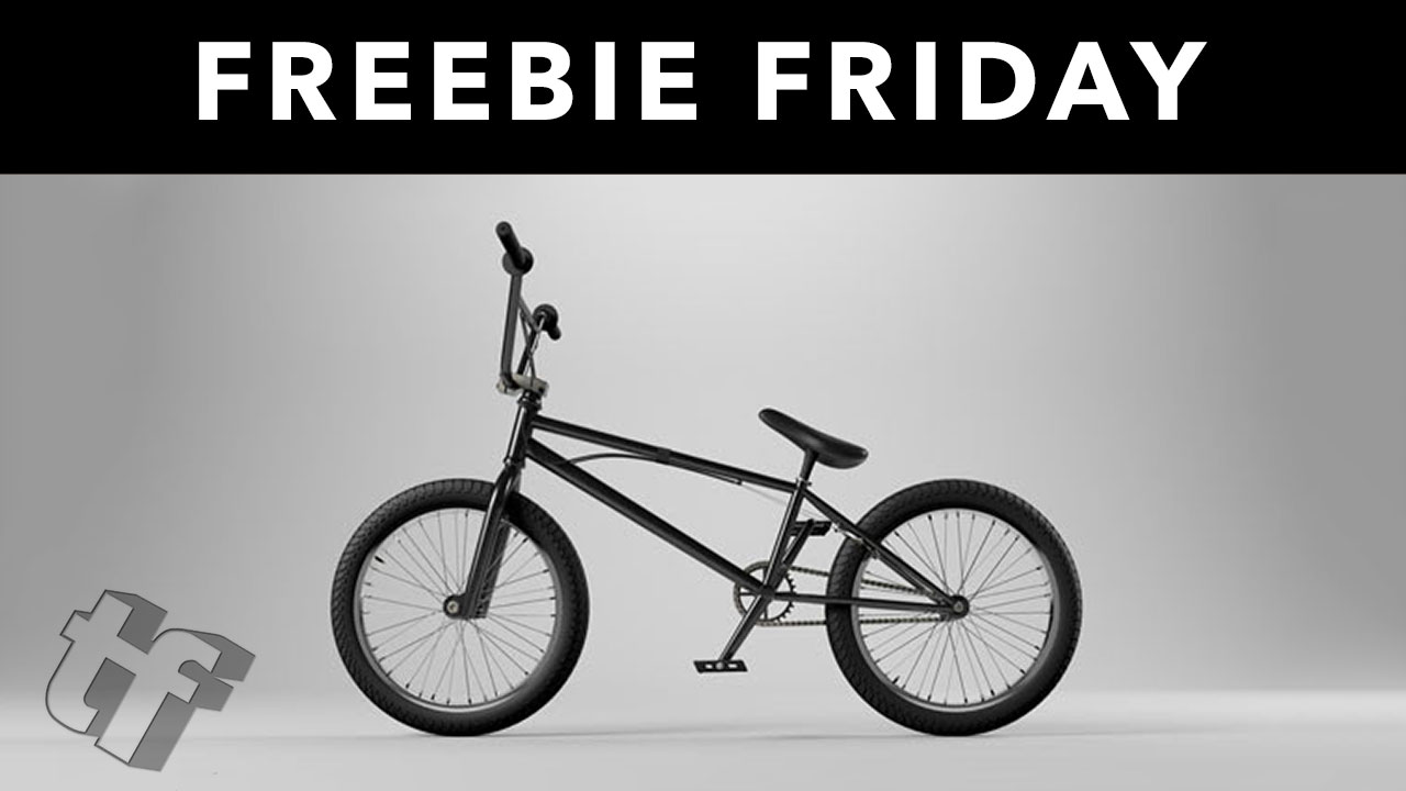 Freebie: BMX Bike Cinema 4D 3D Model