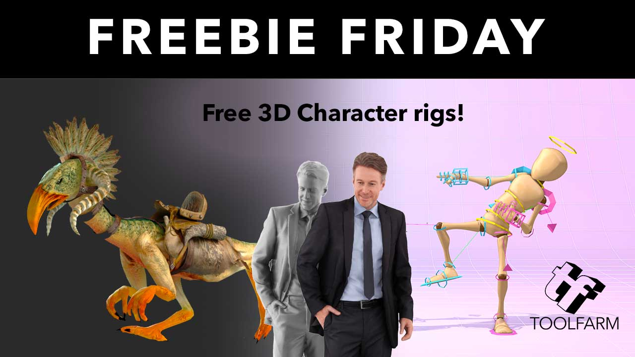 Free: Free 3D Characters - Fully Rigged! - Toolfarm