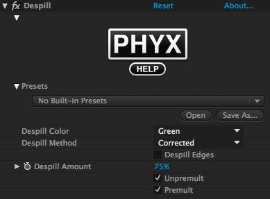 PHYX Despill UI