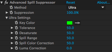 After Effects Spill Suppressor