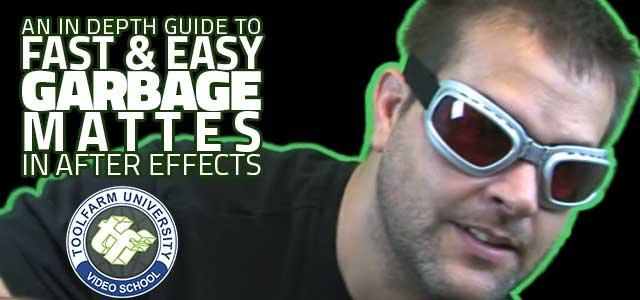 An in depth guide to fast and easy garbage mattes in after effects