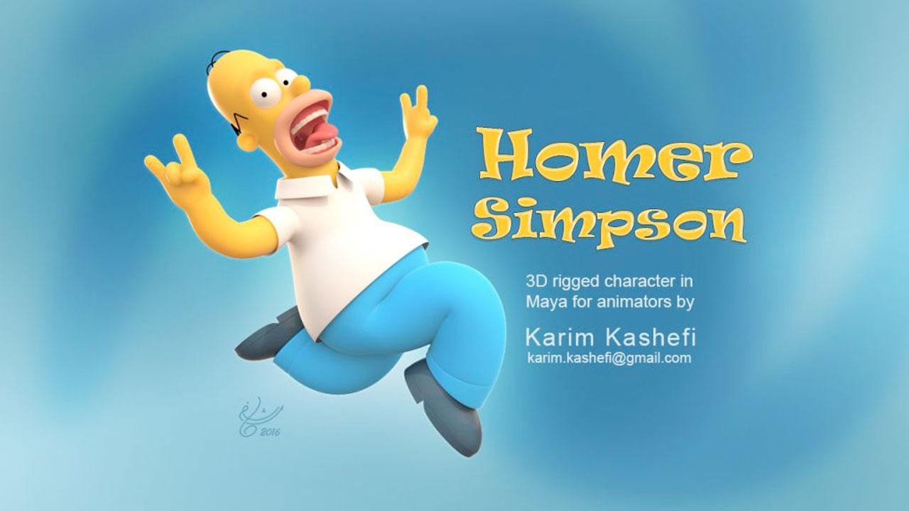 Freebie: Maya: Free Homer Simpson Rig - Toolfarm