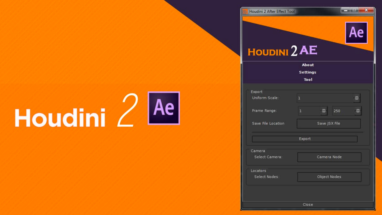 Freebie: After Effects: Houdini to AE Free Python Tool
