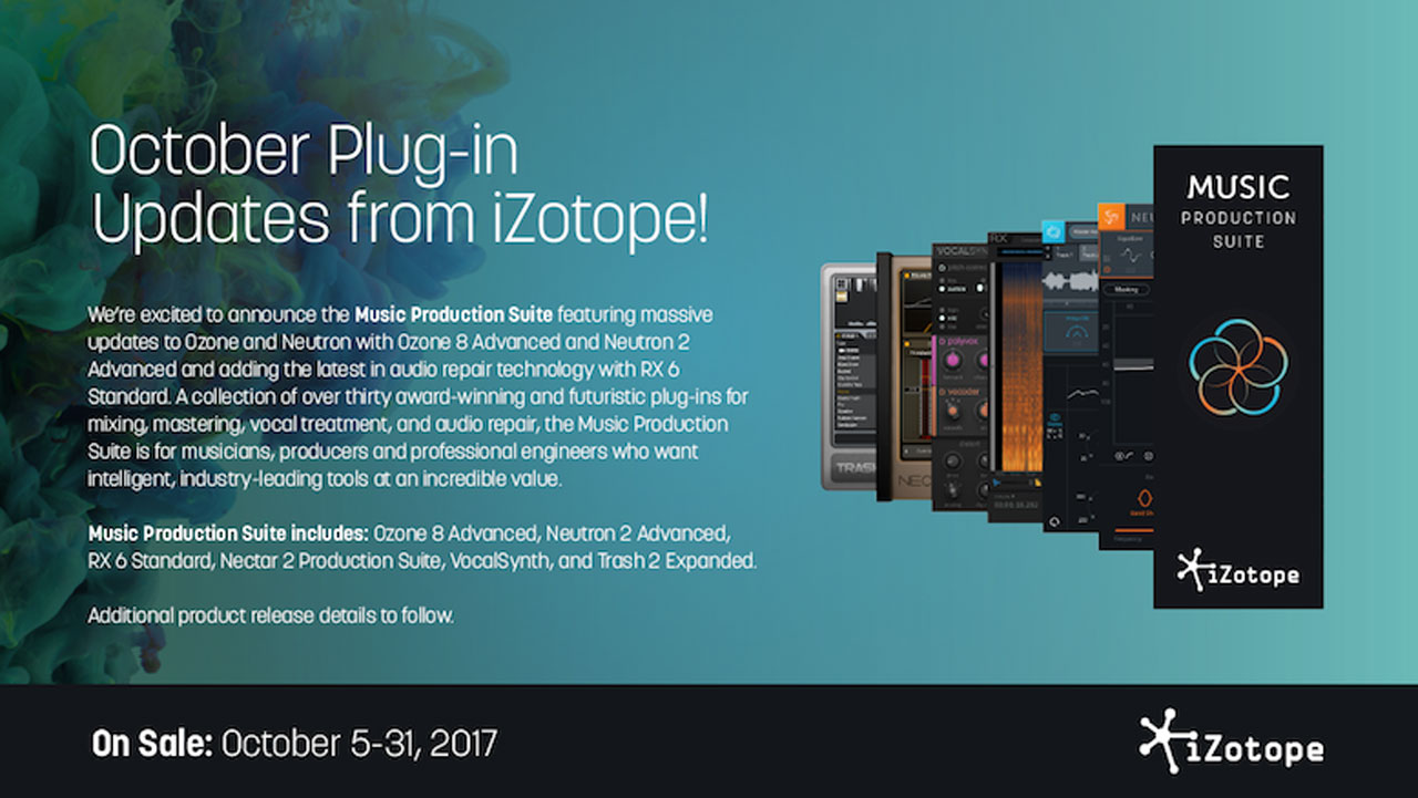 New: iZotope Music Production Suite, Neutron 2, Ozone 8 are