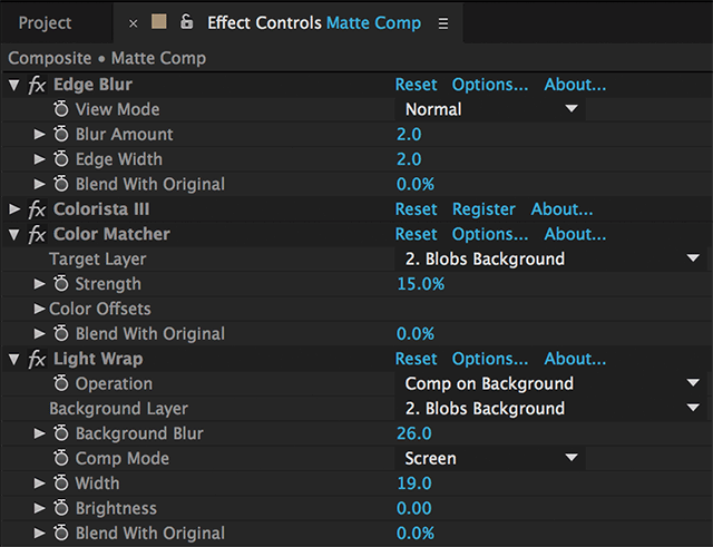 Key Correct Effect Controls