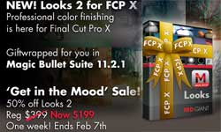 New/Sale: Red Giant Magic Bullet Looks for FCPX Now Available and 50% Off!