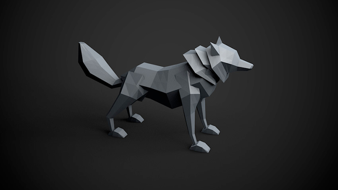 Character Design Cinema 4d Tutorial : Tutorial cinema d model a low poly wolf toolfarm