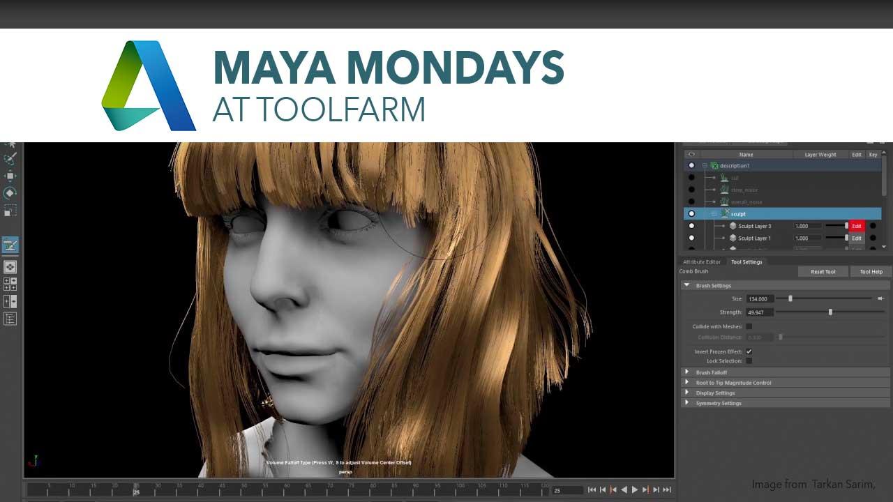 Maya Monday: Maya XGen and Interactive Grooming Tutorial