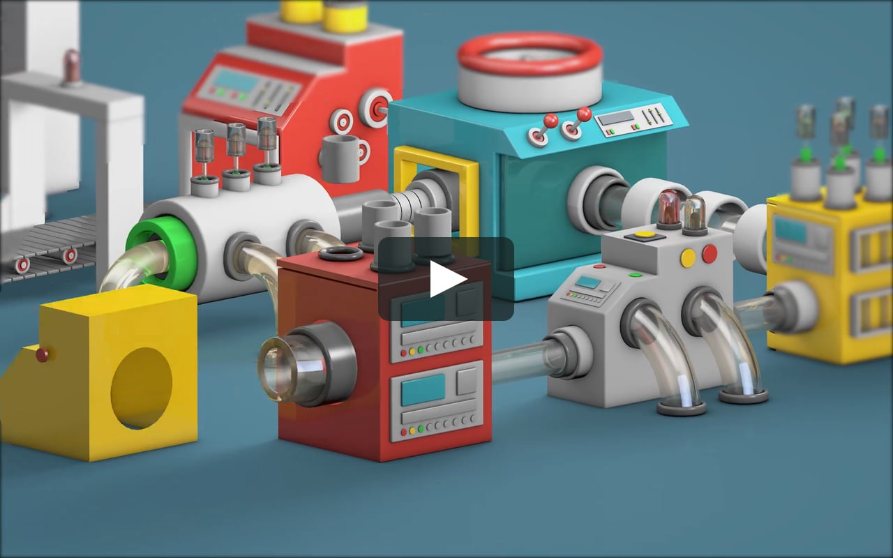 Pixego inspired Mini Machine Examples and Cinema 4D Tutorial