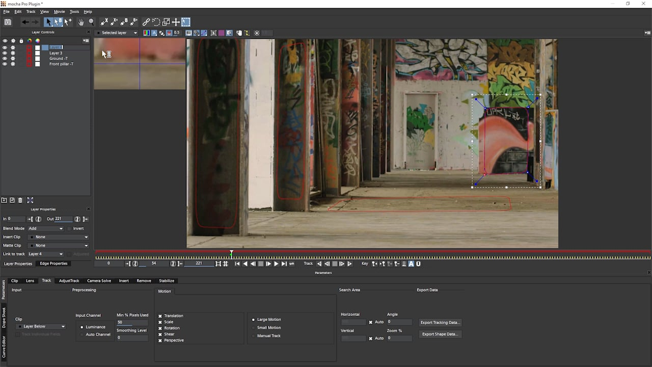 Getting Started with Mocha: Camera Solve – Parallax Changes