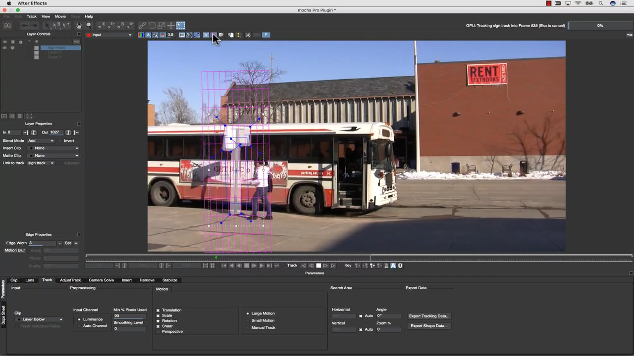 Mocha Planar Tracking Tips with the Mocha Pro 5