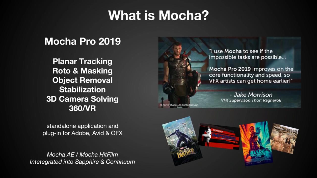 Mocha Pro 2019 webinar replay